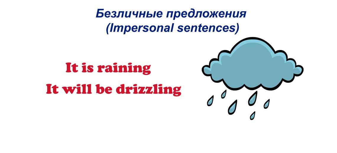 Безличные предложения в английском языке (Impersonal sentences)