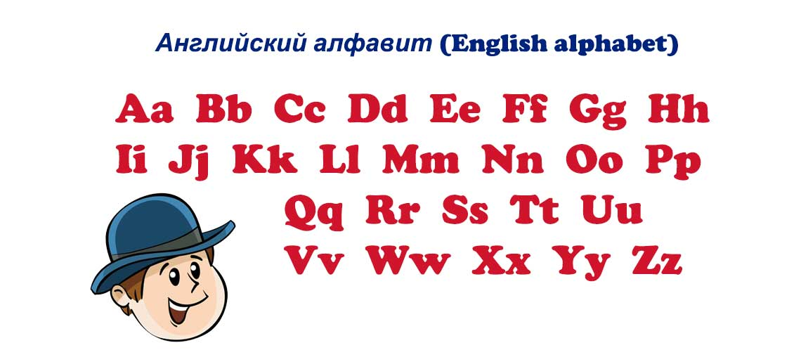 Английский алфавит (English alphabet)