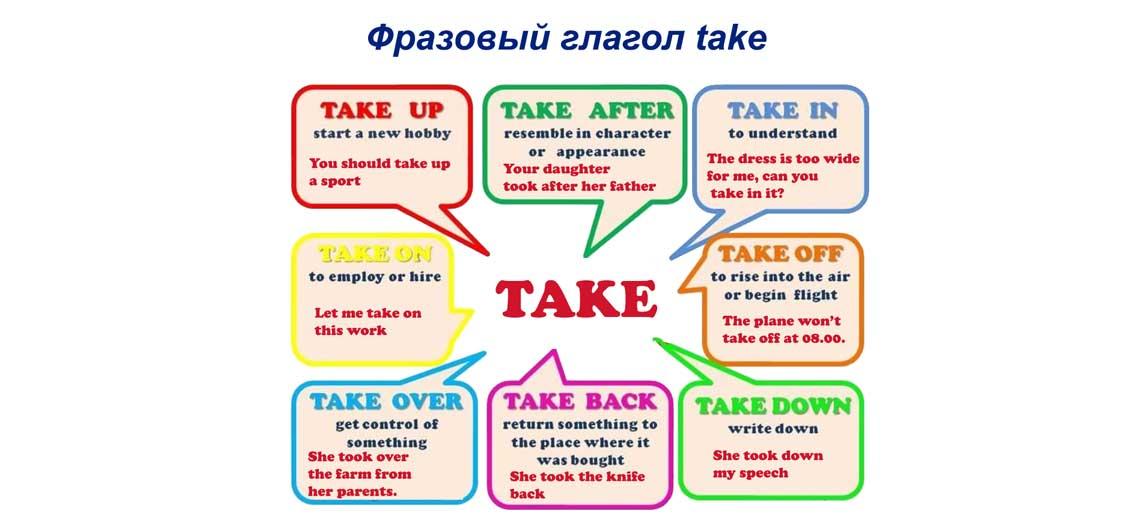 Фразовый глагол take
