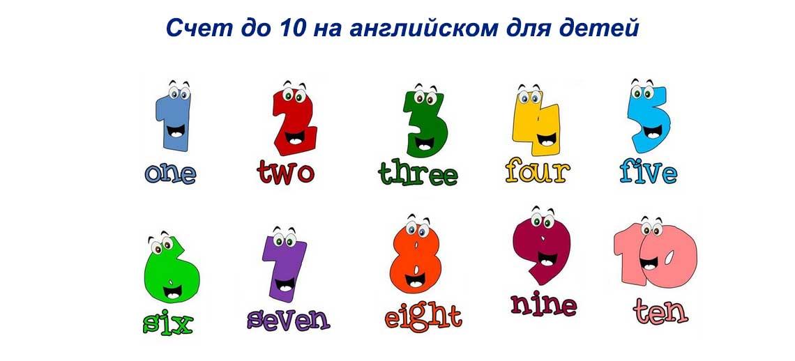 Счет до 10 на английском для детей