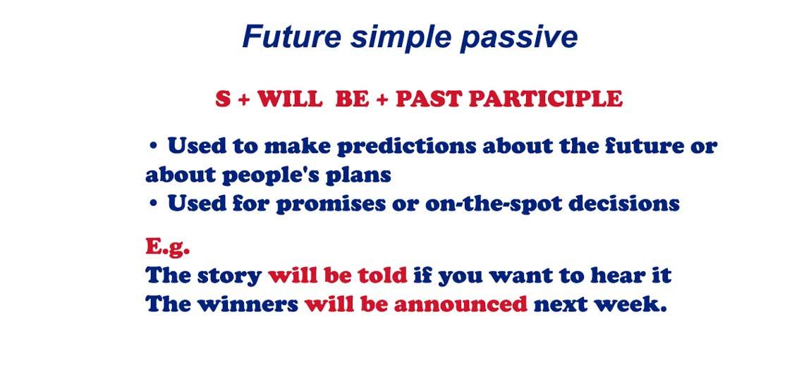 Future simple passive