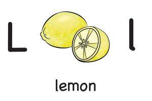 Карточка на английском lemon