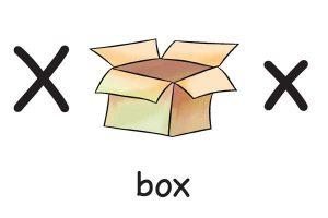 Карточка на английском box