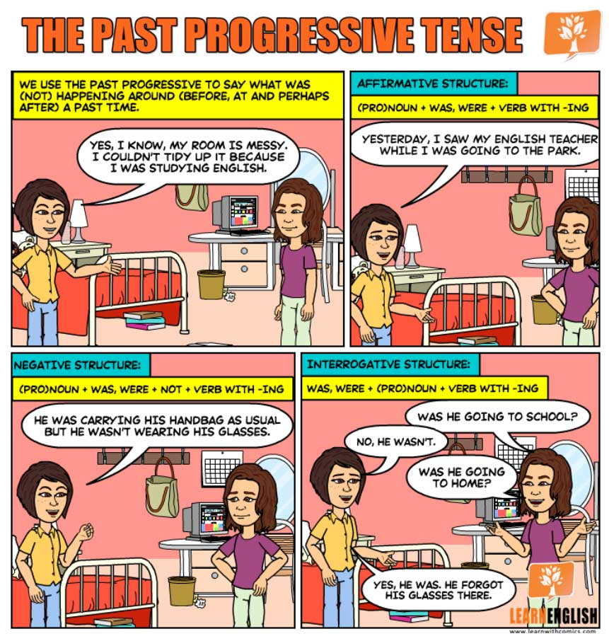 Комиксы в Past Continuous