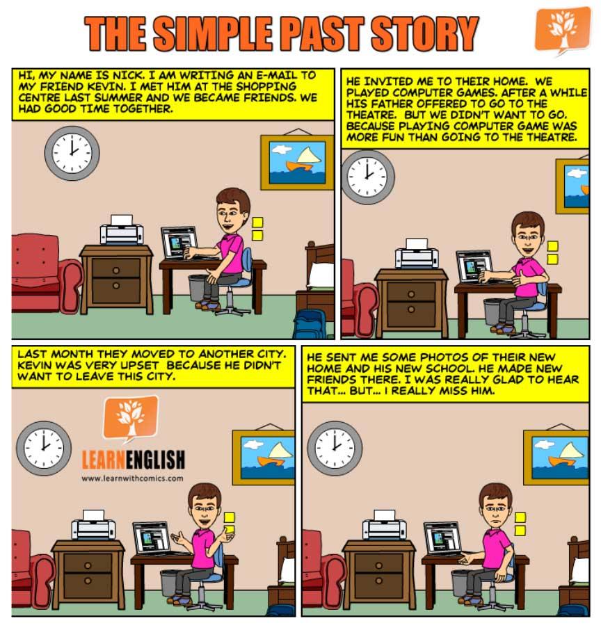 Past Simple Комиксы