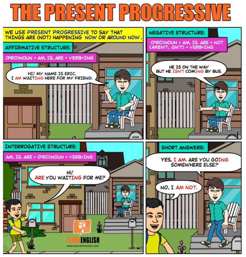 Present Continuous comics