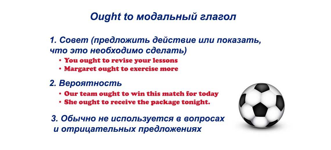 ought to модальный глагол