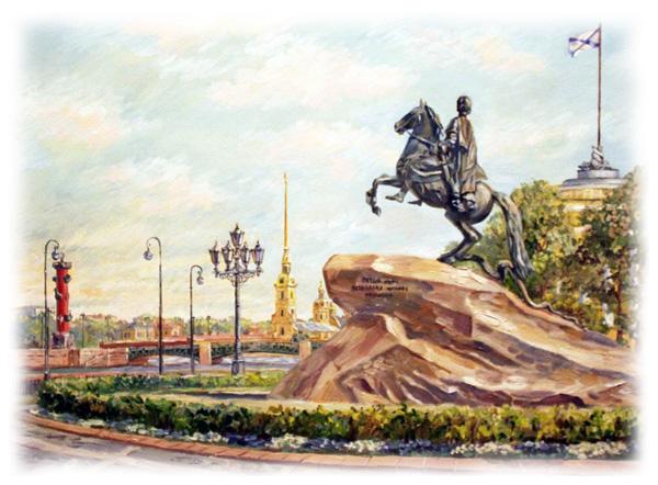 Рассказ про памятник Петру Великому на английском языке
