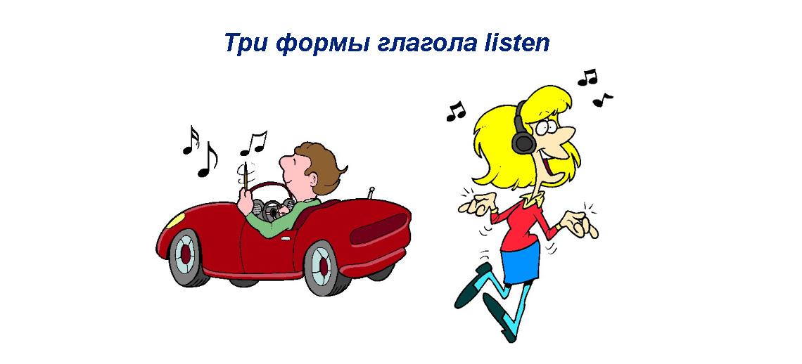 Listen 3 формы глагола, правила употребления, примеры