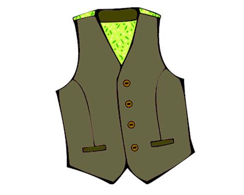 Жилет по-английски - waistcoat [ˈweɪskəʊt]