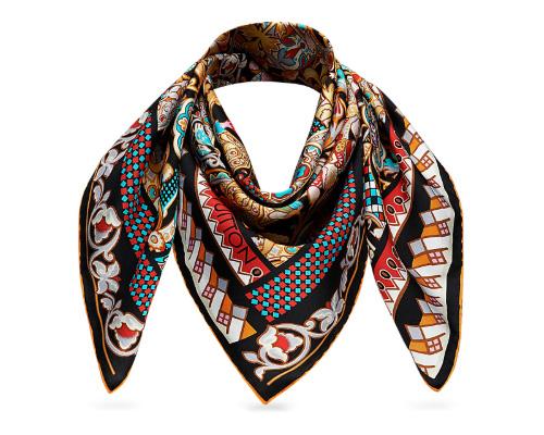 По- английски шаль, платок, шарф - shawl [ʃɔːl]