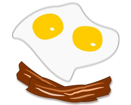 Бекон и яичница по-английски - bacon and eggs