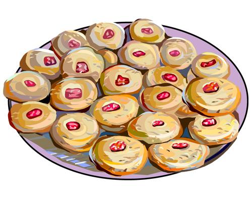 Датская выпечка печенье с начинкой -Danish pastries