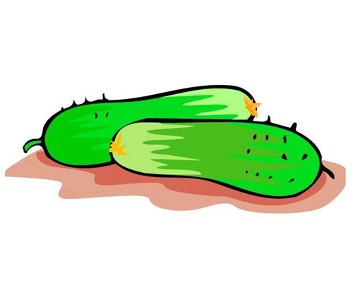 Огурец по-английски - cucumber [ˈkjuːkʌmbə]