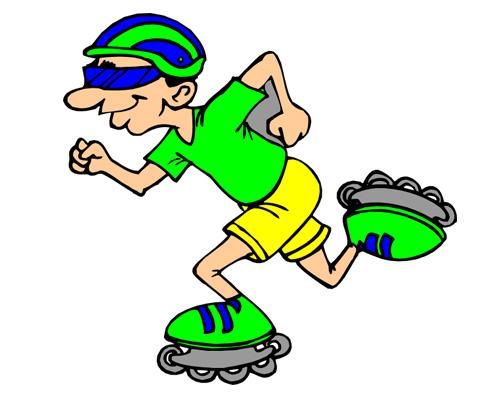 Катание на роликовых коньках -roller-skating