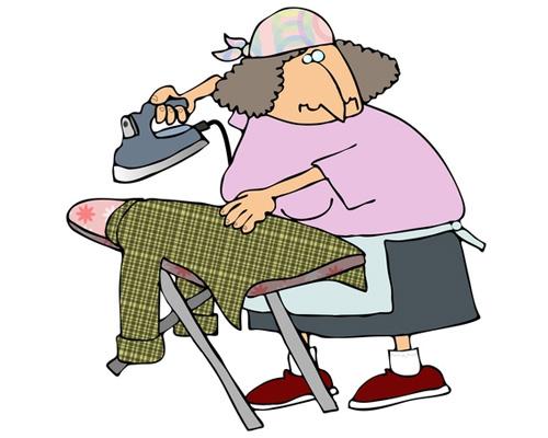 Гладить или глажка по-английски - to do the ironing