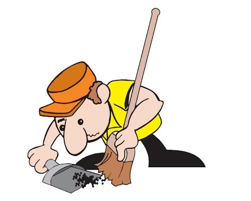 Подметать по-английски -to sweep