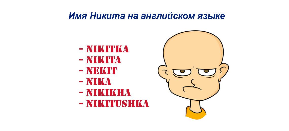 Имя Никита на английском языке