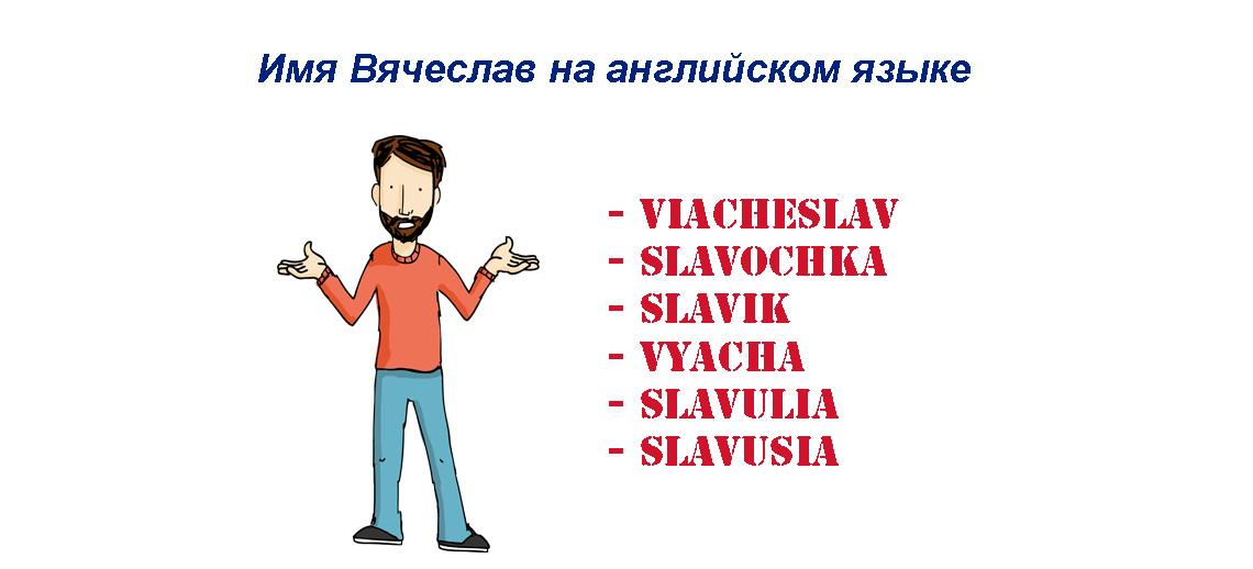 Имя Вячеслав на английском языке