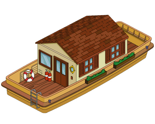 Плавучий дом - houseboat [ˈhaʊsbəʊt]
