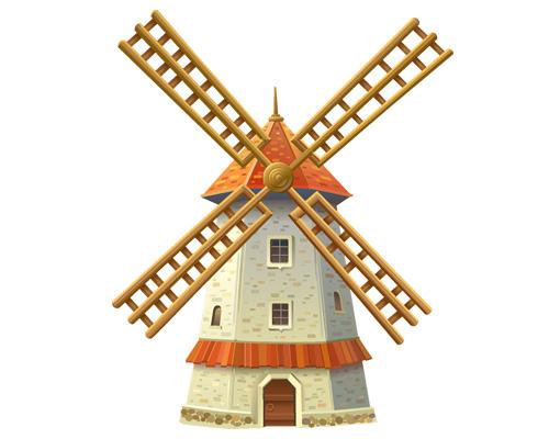 Ветряная мельница по-английски - windmill [ˈwɪndmɪl]