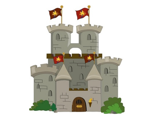 Замок по-английски - castle [kɑːsl]