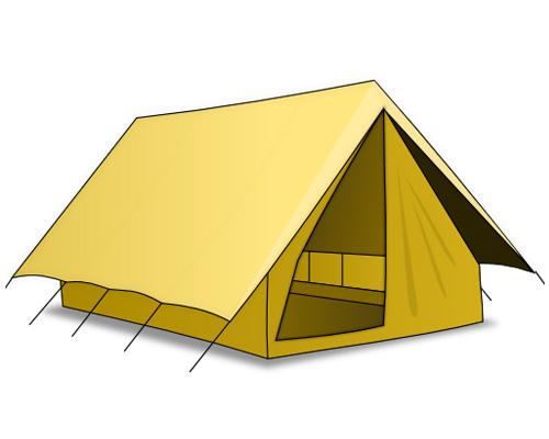 Палатка по-английски - tent [tent]