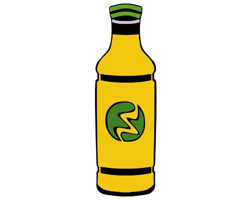 a bottle of lemonade