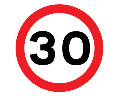 """Знак """"Ограничение максимальной скорости"""" в Англии - Maximum speed limit"""