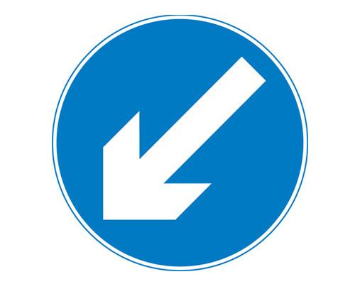"""Дорожный знак """"Держитесь левее"""" - Keep left"""