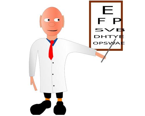 Отдел по продаже очков - optician's