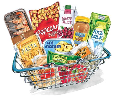 Отдел или магазин бакалеи - grocer's