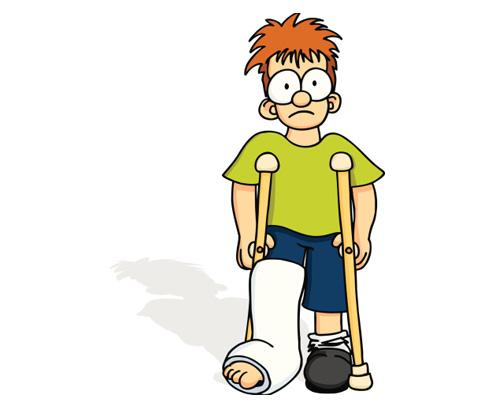 Он сломал ногу (или у него сломана нога) - He's broken his leg.