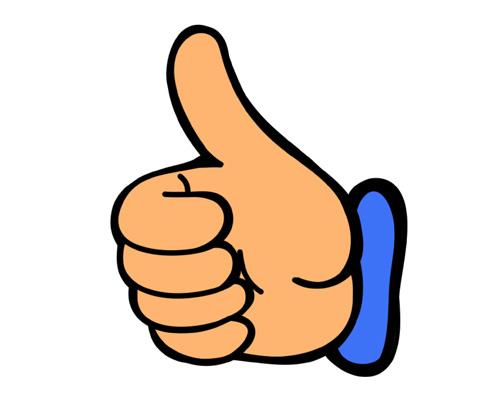 Большой палец руки по-английски - thumb [θʌm]