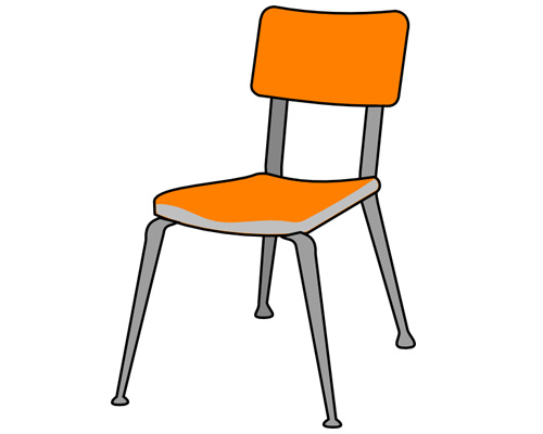 Стул, который со спинкой называют по-английски - chair [ʧeə]
