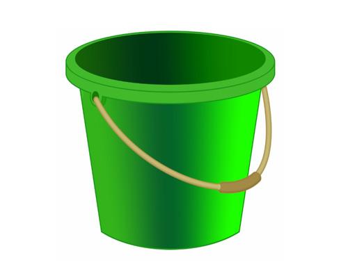 Ведро по-английски - bucket [ˈbʌkɪt]