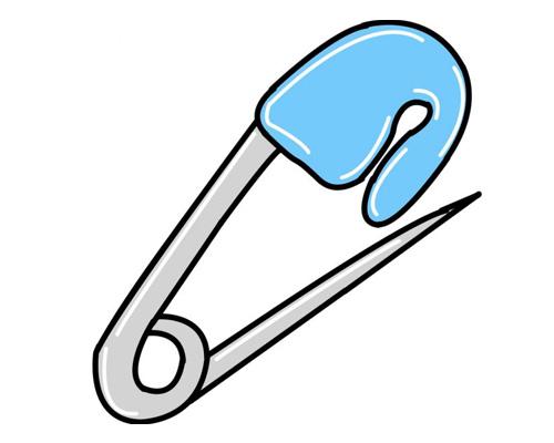 Булавка по-английски - safety pin [ˈseɪftɪ pɪn]