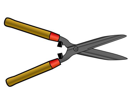 Ножницы по-английски - shears [ˈʃɪəz]