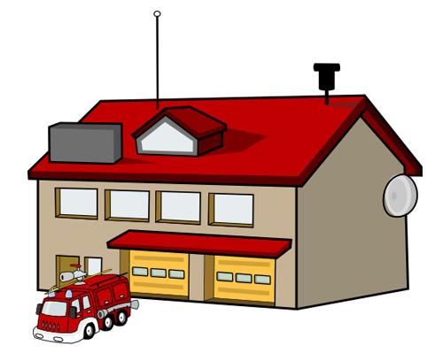 Пожарная станция по-английски - fire station