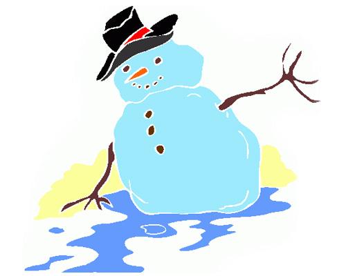 "По английски ""ОТТЕПЕЛЬ"" - It's thawing"