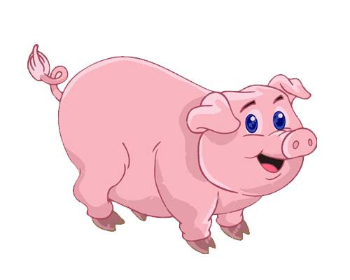 a pig grunts - свинья хрюкает - grunt [grʌnt] - хрюкать