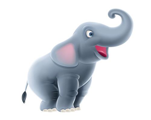 an elephant trumpets - слон трубит - to trumpet [ˈtrʌmpɪt] - трубить