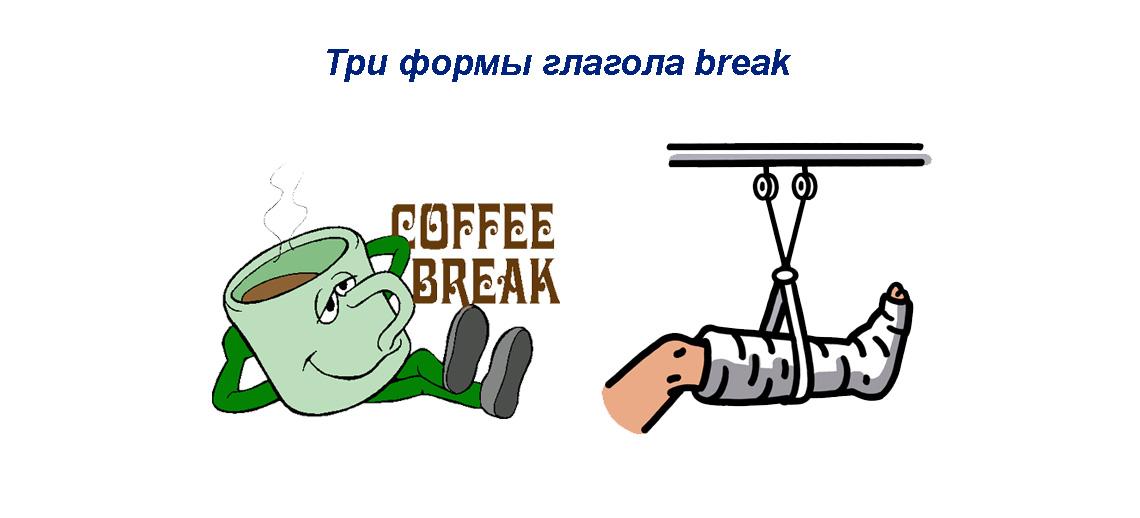 Break 3 формы глагола - грамматика, перевод, значения