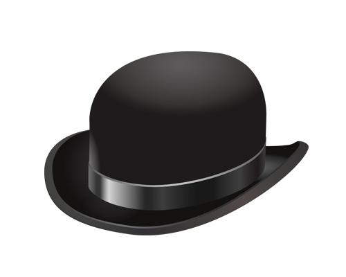 Котелок по-английски - bowler hat [ˈbəʊlə hæt]