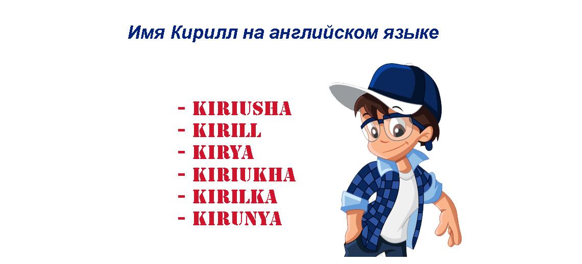 Имя Кирилл на английском языке