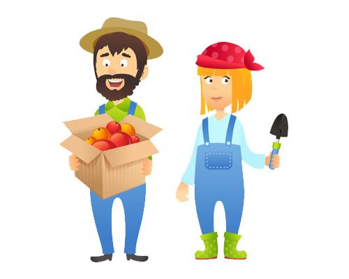 Фермер по-английски - a farmer [ˈfɑːmə]