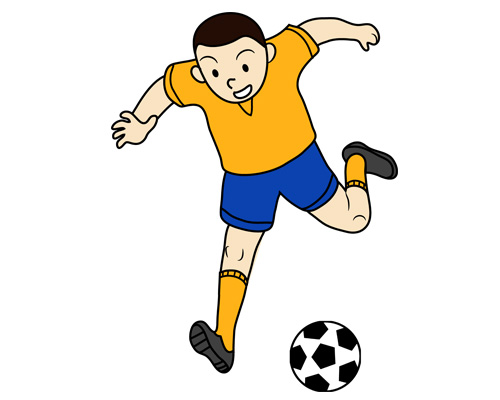 Футболист по-английски - a football player [ˈfʊtbɔːl ˈpleɪə]