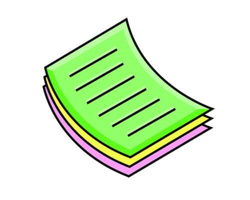 Стопка бумаги по-английски - a stack of paper