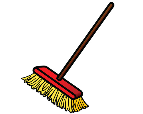 Метла, веник по-английски - broom [brum]