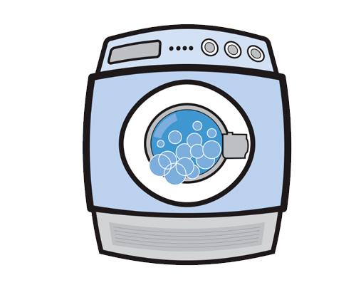 По-английски стиральная машина - washing machine [ˈwɒʃɪŋ məˈʃiːn]